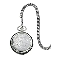 WATCHP10 Montana Time Analog Display Quartz Pocket Watch