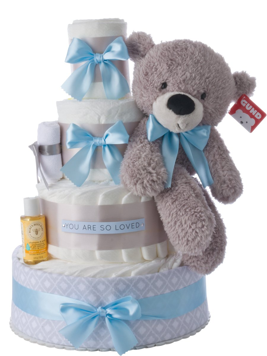 Lil' Baby Cakes You are So Loved Diaper Cake for Boys