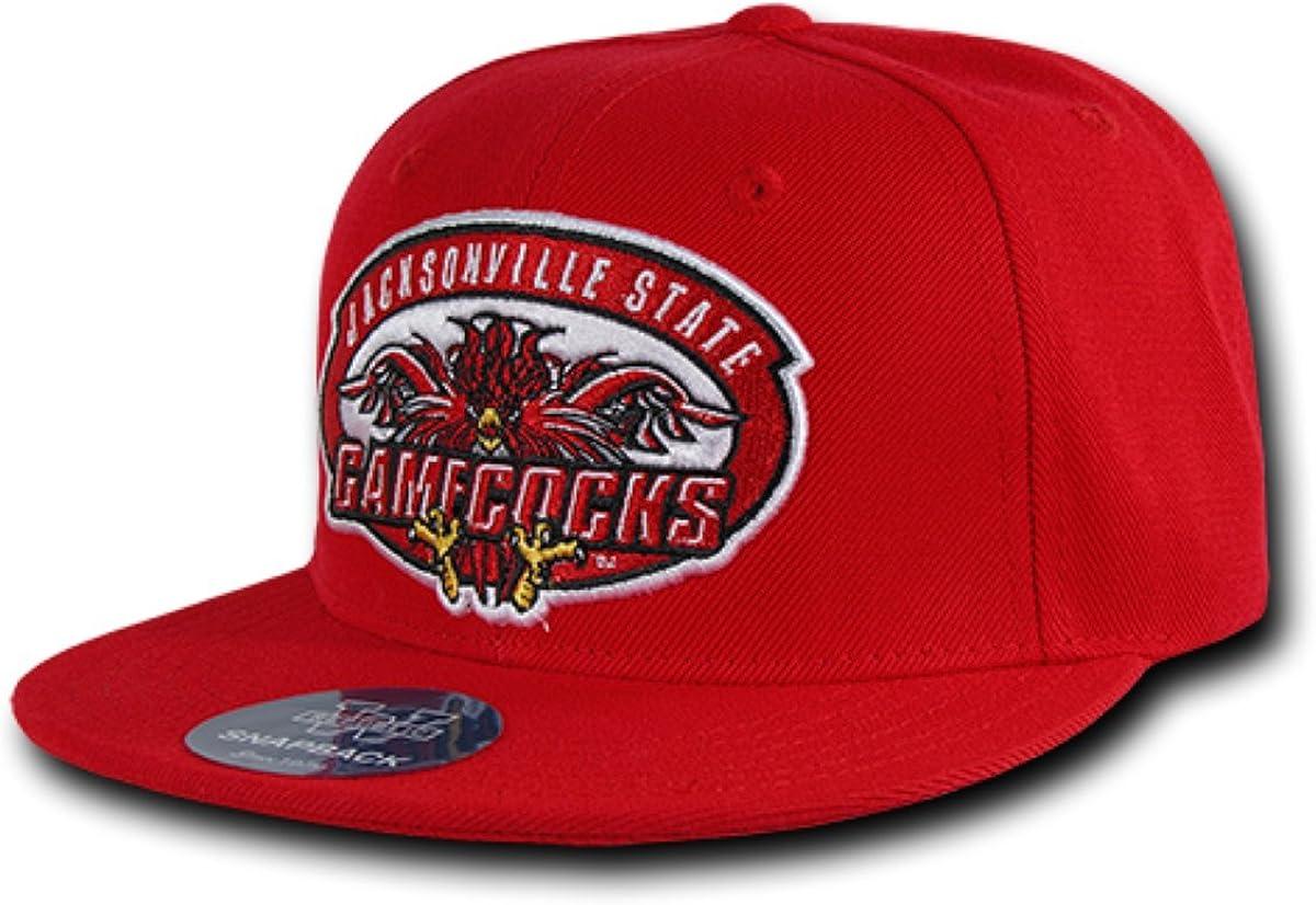 JSU Jacksonville State Gamecocks NCAA Freshman Fitted Flat Bill Baseball Cap Hat
