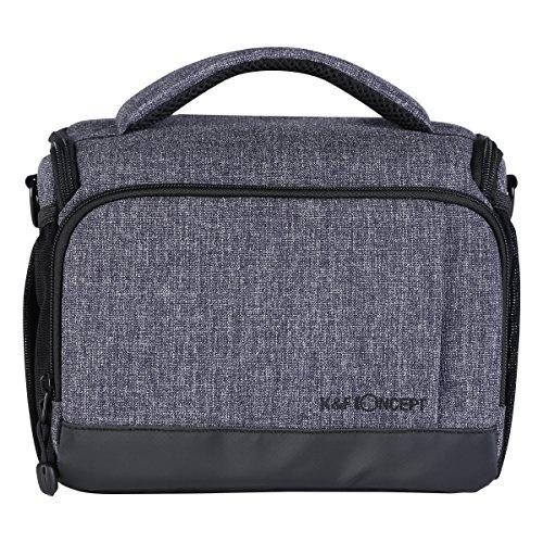 K&F Concept® SLR-Kamerarucksack Fotorucksack Kameratasche für Canon Nikon Sony DSLR-Kamera und Zubehör Wasserdicht grau