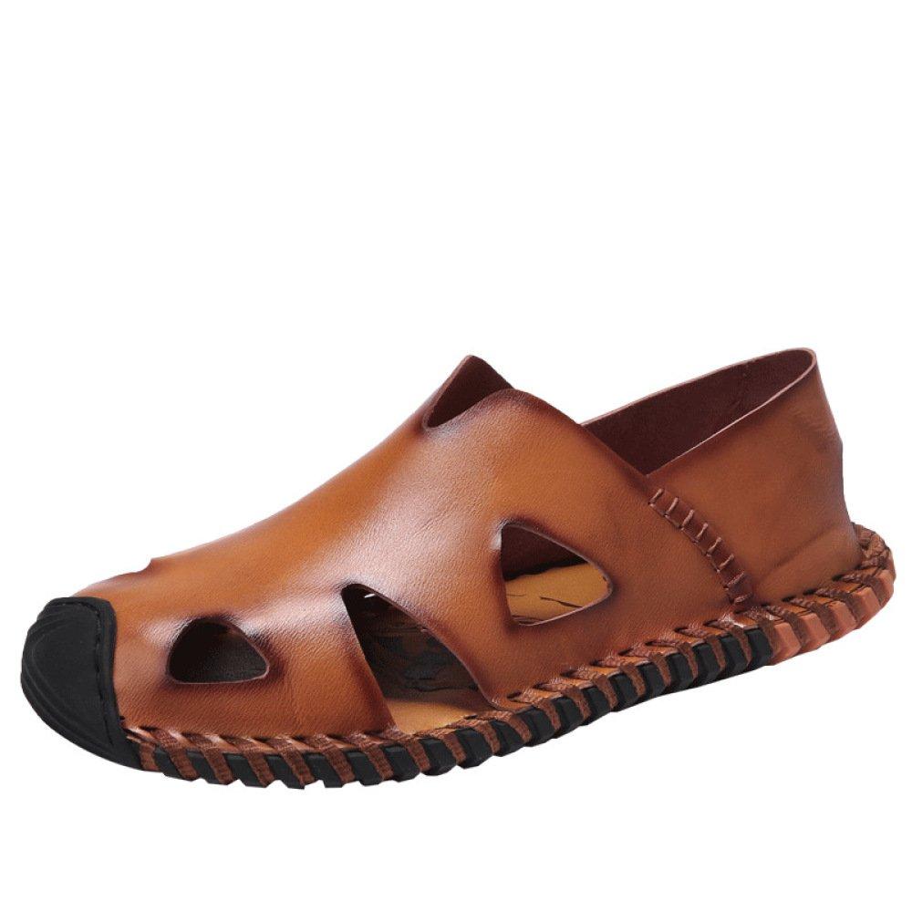 WLFHM Uomini Scarpe di Cuoio Estate Estate Estate Scarpe Casual Scarpe Bucate Sandali Scarpe da Spiaggia 752872