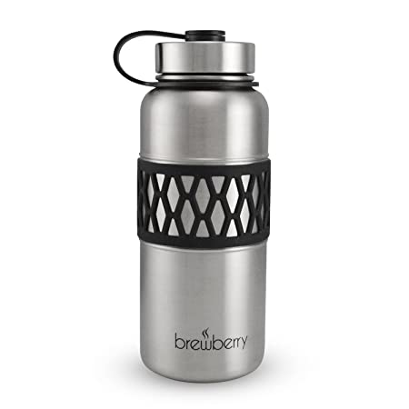 [Amazon lightning deal]Brewberry Wide Mouth 32oz Insulated SS Water Bottle - $13.99