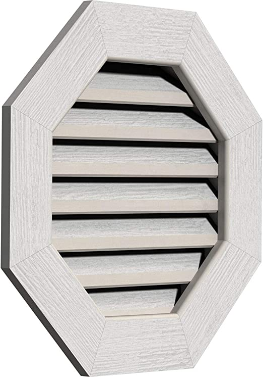 Amazon Com Ekena Millwork Decorative And Smooth Western Octagonal Gable Vent With Decorative Face Frame Home Improvement