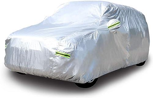 AmazonBasics Silver Weatherproof Car Cover