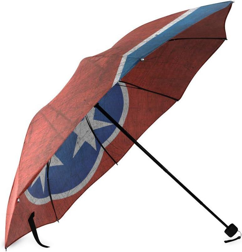 Tennessee State Flag Compact Foldable Rainproof Windproof Travel Umbrella