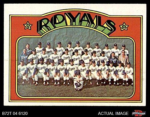 - 1972 Topps # 617 Royals Team Kansas City Royals (Baseball Card) Dean's Cards 7 - NM Royals