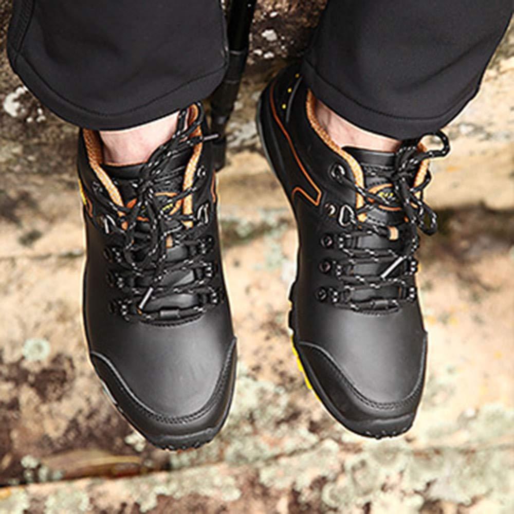 Zapatos De Senderismo De Invierno De Zapatos De Invierno Trabajo De Cuero con Cordones Y Cordones Zapatos De Plataforma De Cuero para Exteriores Calzado Deportivo Ropa Casual,Negro-39 96aef4
