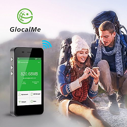 GlocalMe G3 4G LTE Mobile Hotspot, [Upgraded Version] Worldwide High Speed WIFI Hotspot with 1GB Global Initial Data, No SIM Card Roaming Charges International Pocket WIFI Hotspot MIFI Device (Black) by Glocalme (Image #1)