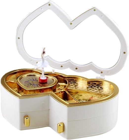 Bailarina caja de música para niña, en forma de corazón Musical ...
