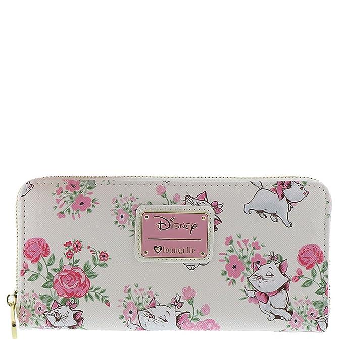 a6cd9aff2f2 Loungefly Disney Aristacats Marie Floral Zip Around Wallet Cat White Handbag