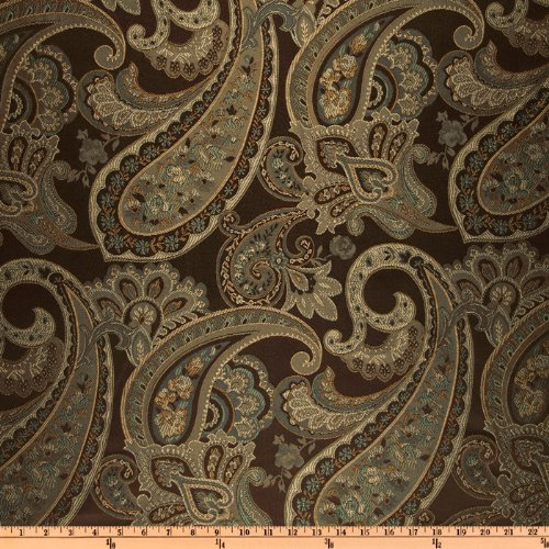Eroica Candytuft Paisley Jacquard Cocoa Fabric By The Yard