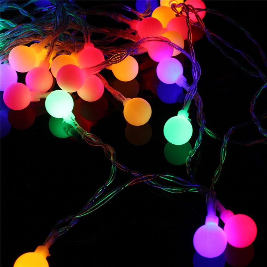 DMZ String Light Curtain House Indoor Decor Lamp Striking Figurine Lamps with 100 LED Beads Christmas New Year Wedding Holiday (A)