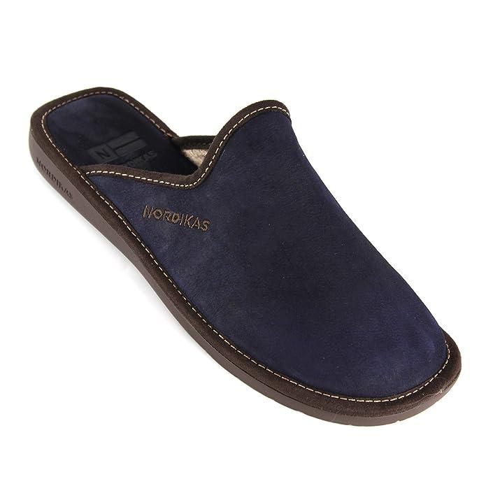 Zapatillas de estar por casa de Nordikas Norwood, color Marrón, talla 45