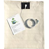 Earthing Half Sheet with Grounding Cord,Made with Premium Cotton and Pure Silver Threads,Grounding Sheets for Earthing…