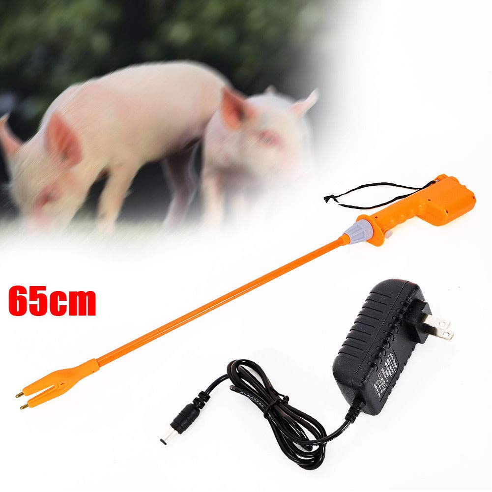 Livestock Prod, TBVECHI 65cm Animal Electric Prod Hot Shock, Electric Livestock Farm Cattle Pig Prod Lon Stick Prodder Helper Rechargeable, Cattle Swine Prod Shaft for Livestock Farm Cow Pig Sheep Pro by TBvechi