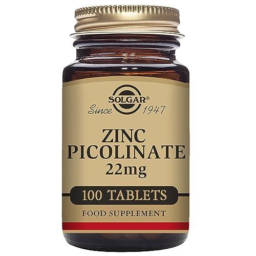 Solgar Zinc Picolinate Tablets, 22 mg, Pack of 100