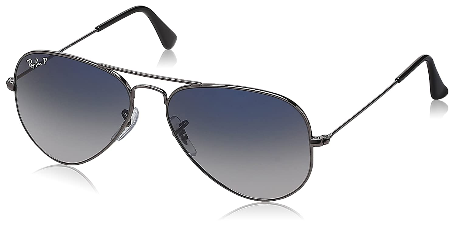 7807027d2c7 Ray-Ban Aviator Sunglasses (Polar Blue and Faded Grey) (RB3025