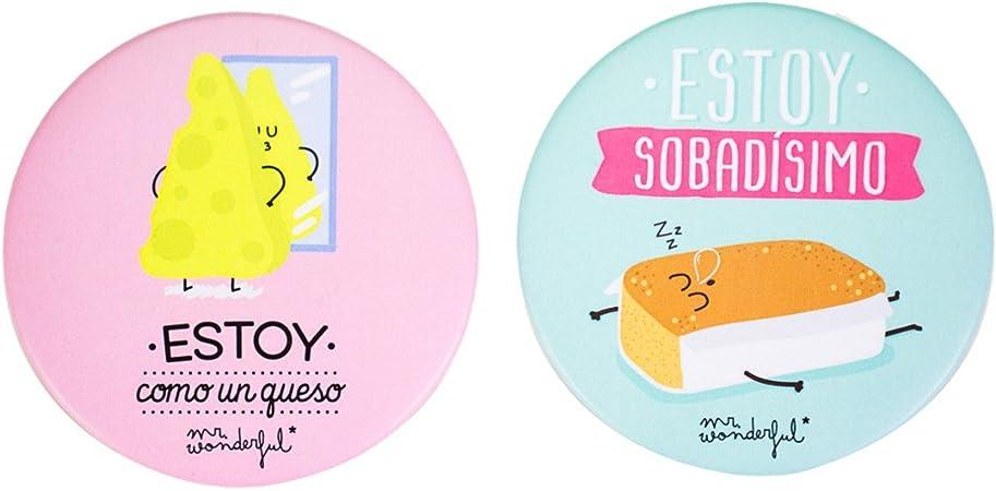 Mr. Wonderful Pack de 2 imanes molones Queso y sobao, Otro, Multicolor, 7.60x7.60x2.00 cm, 2 Unidades: Amazon.es: Hogar