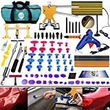 GLISTON DIY Paintless Dent Repair Kit 89pcs Dent Puller Tools Slide Hammer for Car Hail Damage Dent & Ding Remover