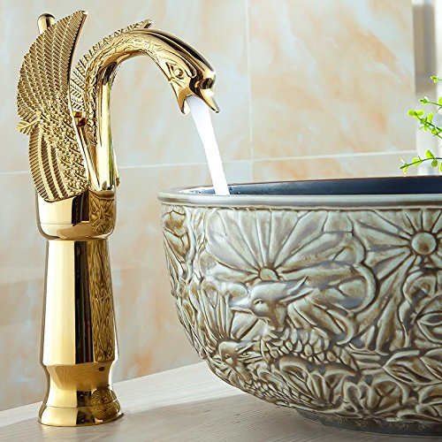 A CZOOR Antique Mixer Hot and Cold Water Kitchen Faucet gold Brass Basin Faucet Deck Mouted Bathroom Hardware Sets Bath Decoration,SF