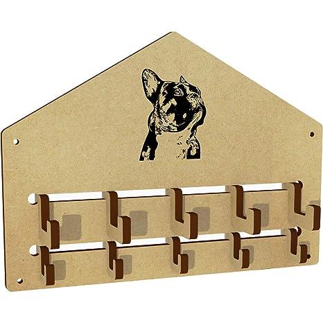 Azeeda Bulldog Francés Ganchos de la Capa montados en la ...
