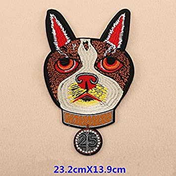 Parches bordados de hierro para perros, pegatinas para ropa, mochilas, vaqueros, camisetas #02: Amazon.es: Hogar