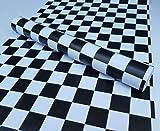 Moana Mahana(モアナマハナ) 壁紙シール ウォールステッカー モザイク タイル柄 ダミエ 市松模様 はがせるタイプ 防水 リメイクシール 45cm×10m (モザイク ブラックxホワイト)