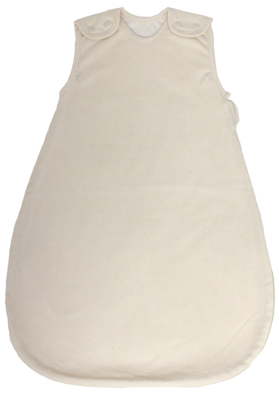 100% GOTS Certfied Organic Cotton, Summer Model, 1 Tog, Baby Sleeping Bag - Sleep Sack (Medium (10 - 24 mos))