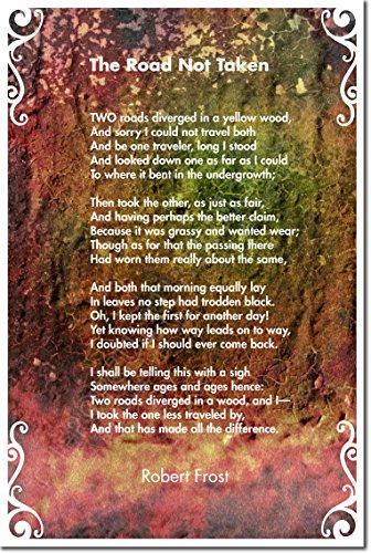 THE ROAD NOT TAKEN - Robert Frost Poem - Original Art Print Photo Poster 12x8 Inch Unique Gift