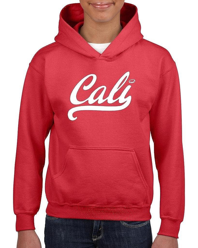 Xekia CALI in White California Republic CA Hoodie For Girls and Boys Youth Kids