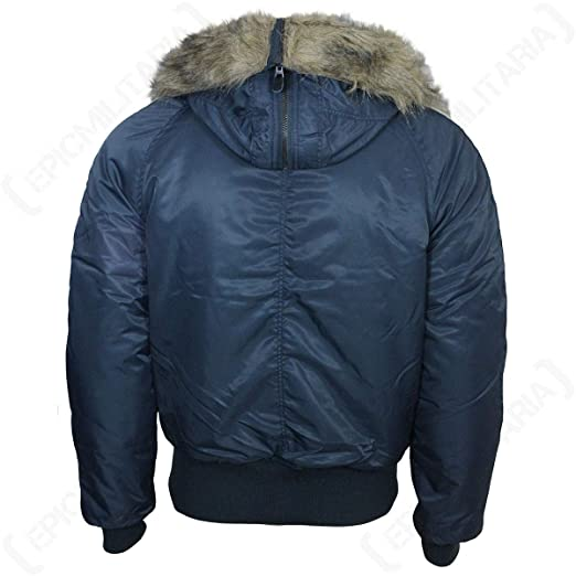 c89183279fb Mil-Tec N2B Flight Jacket Navy at Amazon Men s Clothing store