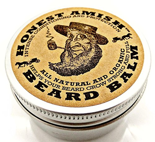 Honest Amish Beard Balm Leave-in Conditioner – All Natural -Vegan Friendly Organic Oils and Butters