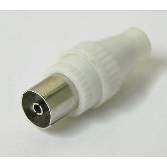 Conector RF Hembra Volante para cable coaxial TV