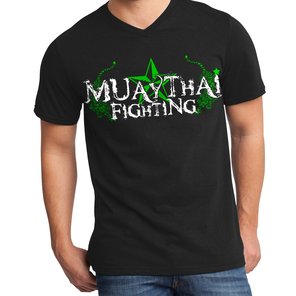 Muay Thai Fighting Stryker Adult V Neck Shirt MMA UFC Tapout BJJ NHB