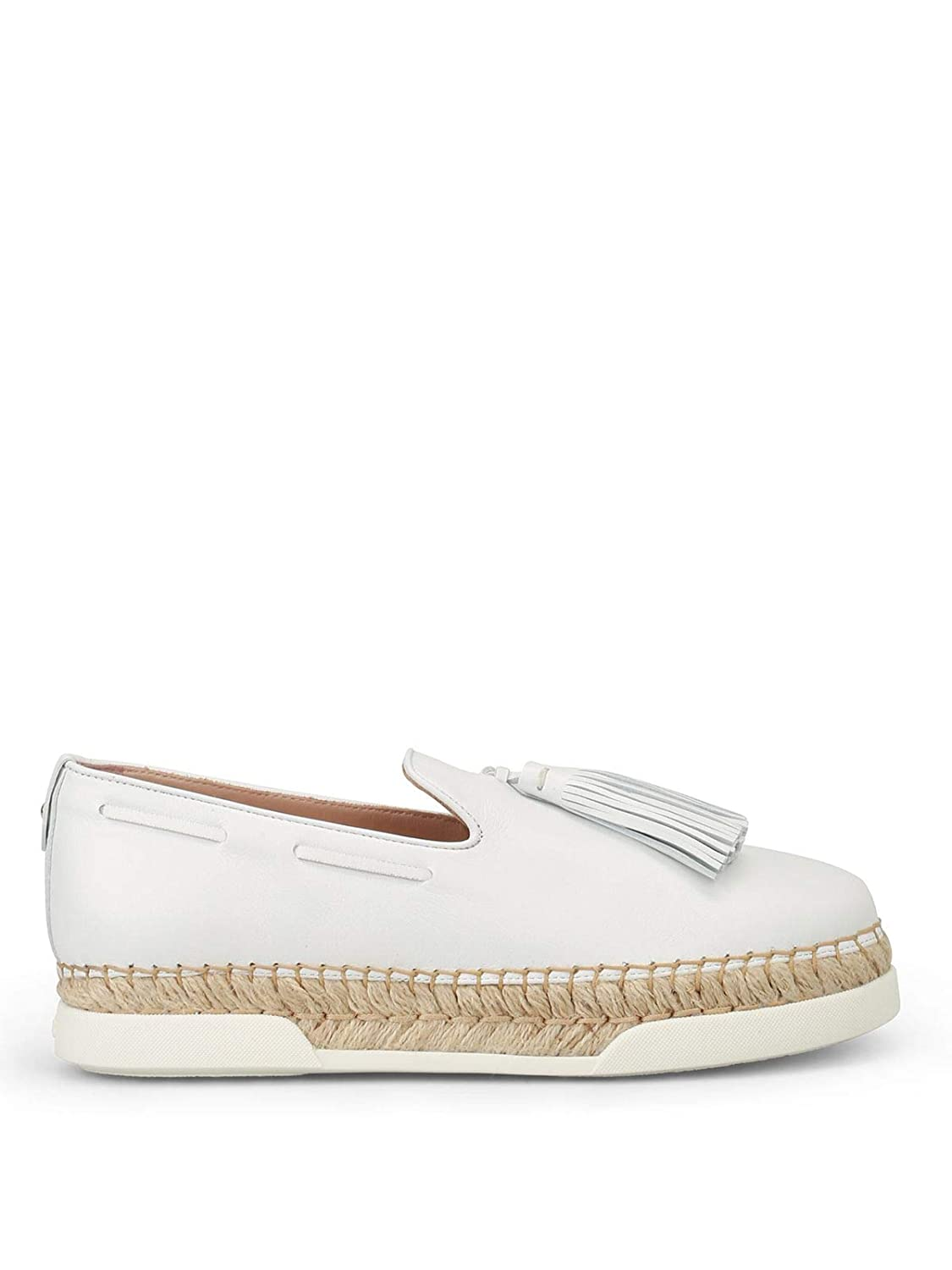 - Tod's Women's XXW96A0Y451JUSB001 White Leather Slip On Sneakers