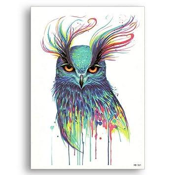 Falso tatuaje temporal de transferencia de agua Raptor Bird águila ...