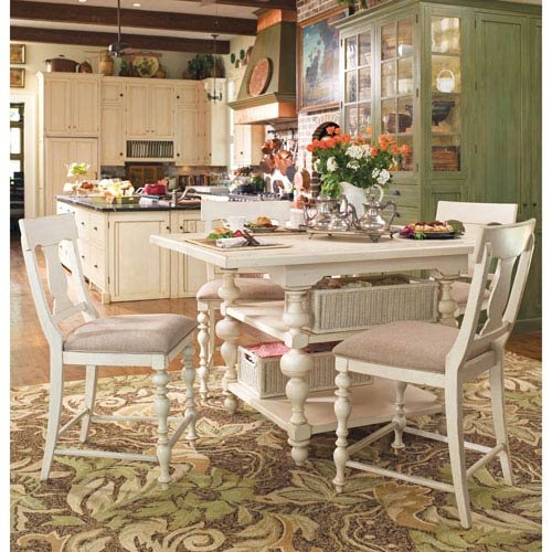 Paula Deen Home Complete Kitchen Gathering Table Top and Base, Linen