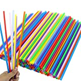 Tomnk 200PCS 10.3 Inch Disposable Color Drinking Straws Plastic Straws