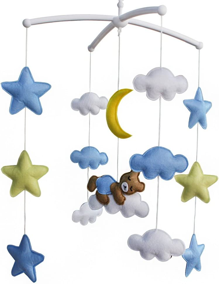 Baby Music Mobile Dream, Bear Crib Decor Infant Crib Musical Mobile,