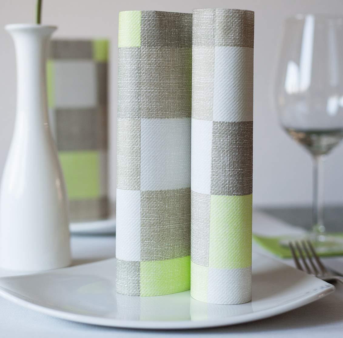 stoffähnlich stoffoptik 125 Stück grün für Hochzeit stoffähnlich stoffoptik hochwertige Serviette CARRÉ Airlaid 125 Stück 40 x 40cm Taufe und andere Festlichkeiten grün für Hochzeit