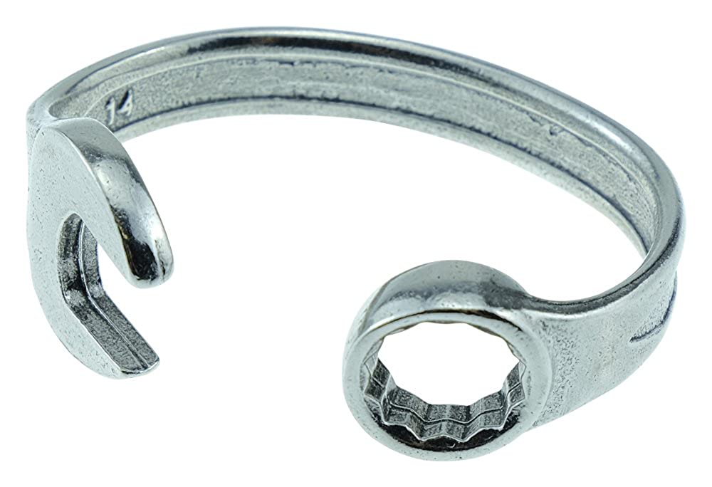 Pirantin 7 Year Anniversary Established 2011 Spanner Wrench Bangle Bracelet Stamped with EST 2011