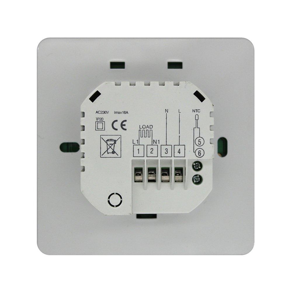 16A - Termostatos digitales programables de pared luz azul para calefaccion suelo por agua / calefaccion suelo por electricidad, (no caldera): Amazon.es: ...