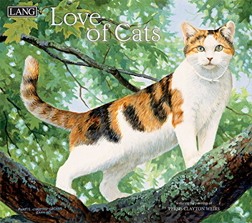 """LANG - 2018 Wall Calendar - """"Love Of Cats"""", Artwork by Persis Clayton Weirs - 12 Month - Open 13 3/8"""" X 24"""""""