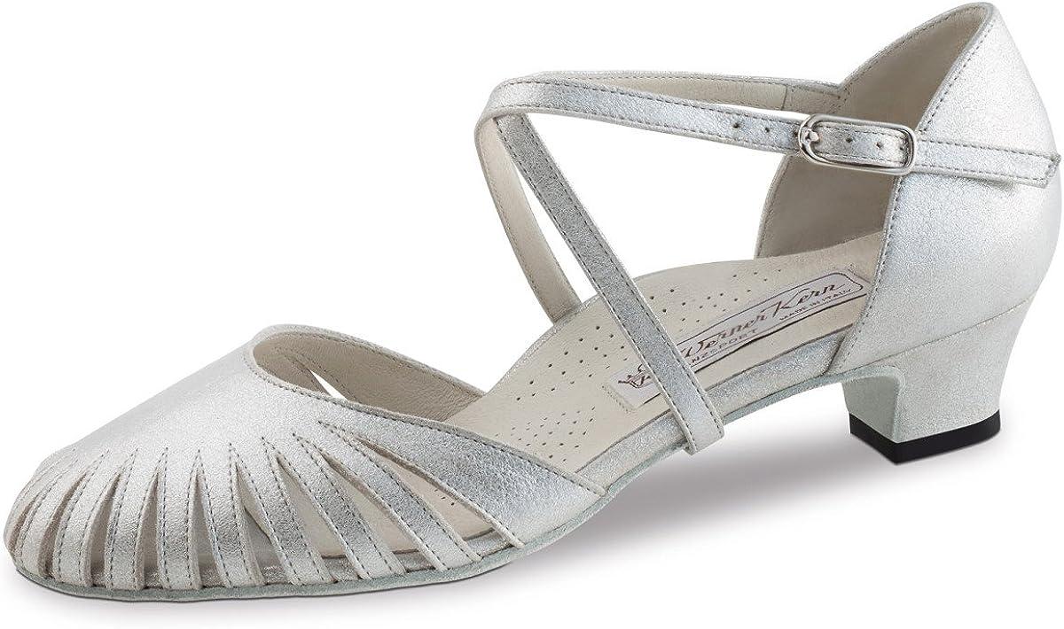 Cuir Perl Argent Werner Kern Chaussures de Danse Murielle 3,4 cm