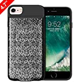 iPhone 7/6s/6 Wireless Charging Case, VAKO Qi Wireless Charger Charging Receiver Case Back Cover for iPhone 7/6s/6. (Black-4.7inches)