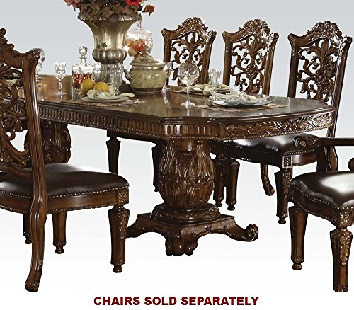 ACME 60000 Vendome Double Pedestal Table, Cherry - Pedestal Cherry Finish