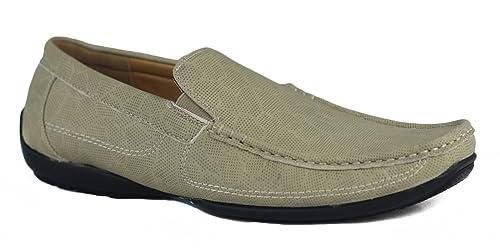 Xposed - Mocasines de piel sintética para hombre Beige beige: Amazon.es: Zapatos y complementos