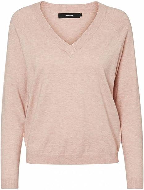 Vero Moda Vmkaris L/S V-Neck Blouse suéter para Mujer