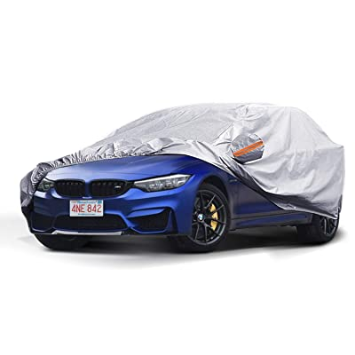 TWING Car Cover, Waterproof SUV Car Covers All Weather UV Protection Windproof Snow-Proof Dust-Proof Scratch Resistant Universal Full Car Cover Fit for SUV up to 189'': Automotive