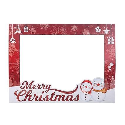 Cornici Di Natale.Bestoyard Cornice Di Carta Per Selfie Per Decorazione Natale